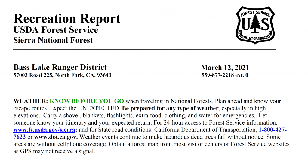 forest service report